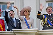 Prinsjesdag Aankomst vanuit de Ridderzaal bij Paleis Noordeinde. En vertrek Maxima en Willem Alexander paleis tuin. ANP ROYAL IMAGES COPYRIGHT HENDRIK JAN VAN BEEK