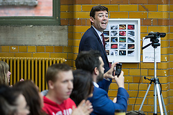 © Licensed to London News Pictures . 17/08/2015 . Manchester , UK . Labour party leadership contender , ANDY BURNHAM arrives to deliver a speech at the People's History Museum in Manchester this morning (Monday 17th August 2015) . Photo credit : Joel Goodman/LNP