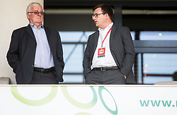 Rudi Zavrl and his son Ales Zavrl during football match between National teams of Slovenia and Malta in Round #6 of FIFA World Cup Russia 2018 qualifications in Group F, on June 10, 2017 in SRC Stozice, Ljubljana, Slovenia. Photo by Vid Ponikvar / Sportida