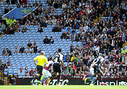There are platy of empty seats at Villa Park - Photo mandatory by-line: Joe Meredith/JMP - Mobile: 07966 386802 23/08/2014 - SPORT - FOOTBALL - Birmingham - Villa Park - Aston Villa v Newcastle United - Barclays Premier League