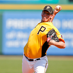 February 25, 2011; Bradenton, FL, USA; Pittsburgh Pirates pitcher Michael Crotta (60) during a spring training exhibition game against the State College of Florida Manatees at McKechnie Field. The Pirates defeated the Manatees 21-1. Mandatory Credit: Derick E. Hingle