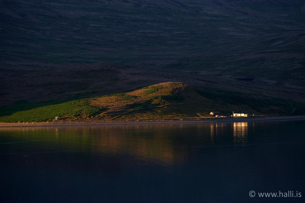 Sunset in Patreksfjordur, west part of Iceland - sólsetur við Patreksfjörð