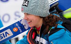 Sarah Hendrickson of USA after the Normal Hill Individual Competition at FIS World Cup Ski jumping Ladies Ljubno 2012, on February 11, 2012 in Ljubno ob Savinji, Slovenia. (Photo By Vid Ponikvar / Sportida.com)