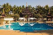 Swimming pool at the opulent Mandalay Hill Resort, Myanmar