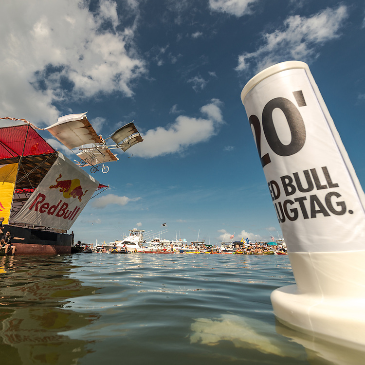 Dragon Riders Revenge competes the Red Bull Flugtag in Miami, FL, USA, on 21 September 2013.