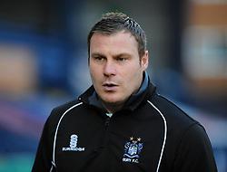 Bury's Manager David Flitcroft - Photo mandatory by-line: Dougie Allward/JMP - Mobile: 07966 386802 01/04/2014 - SPORT - FOOTBALL - Bury - Gigg Lane - Bury v Bristol Rovers - Sky Bet League Two