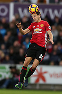 Matteo Darmian of Manchester Utd in action. Premier league match, Swansea city v Manchester Utd at the Liberty Stadium in Swansea, South Wales on Sunday 6th November 2016.<br /> pic by  Andrew Orchard, Andrew Orchard sports photography.