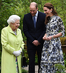 Members of The Royal Family attend the RHS Chelsea Flower Show at the Royal Hospital Chelsea, London, UK, on the 20th May 2019. 20 May 2019 Pictured: Queen, Queen Elizabeth, Prince William, Duke of Cambridge, Catherine, Duchess of Cambridge, Kate Middleton. Photo credit: James Whatling / MEGA TheMegaAgency.com +1 888 505 6342