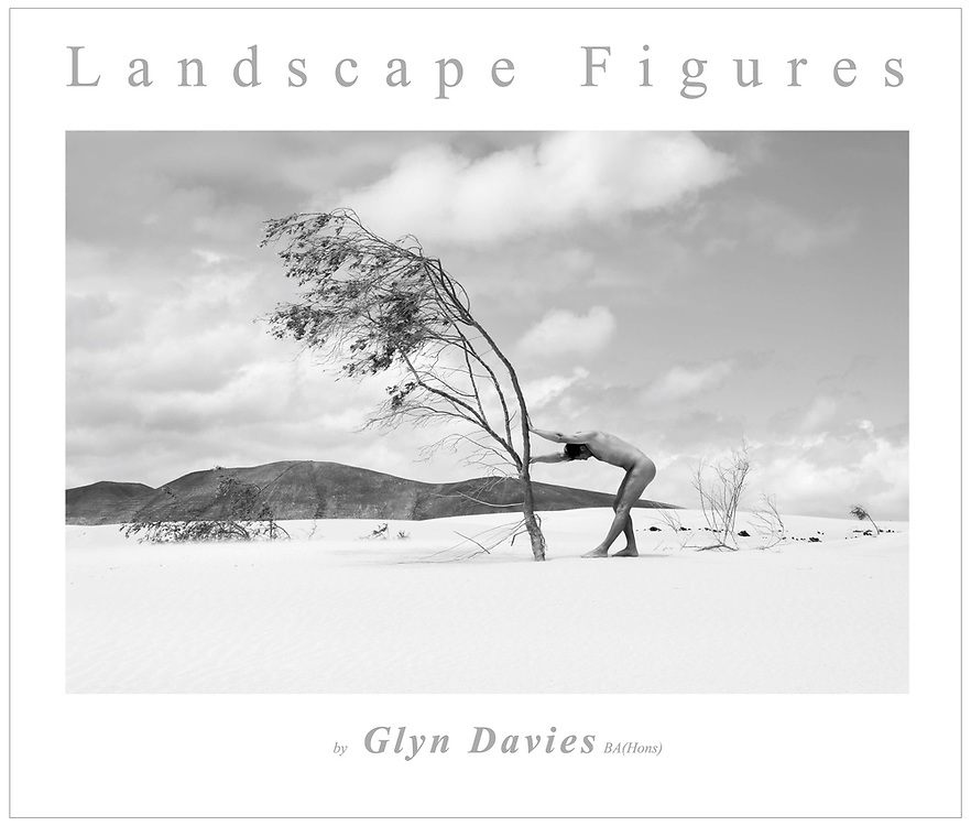 """My fifth book, following a four year project exploring nude figures in wild landscape.<br /> <br /> Signed copies from Glyn's gallery are £149 each or direct from the printing company at<br /> www.blurb.co.uk/b/7799527-landscape-figures   <br /> <br /> This hardback 122 page book contains 54 x A4 images plus associated full captions to the images, and an introduction and index. <br /> <br />                        ~<br /> <br /> Since 2011 photographer Glyn Davies has spent much of his personal time photographically exploring the relationship between nude human figures and the 'notional' natural landscape.<br /> <br /> The nude in landscape is nothing new as a genre, but Glyn wanted to create images with a subtly different emphasis. Nudes in landscape are often about the beauty or pose of extremely beautiful professional models, and without the model there is sometimes nothing left. As a landscape photographer Glyn wanted the landscape to be as important as the nude itself, and the figure had to have a relevant connection to that landscape.<br /> <br /> The subjects were not professional models but volunteers who had shown an interest in the concept. As the project developed it clearly confirmed that there is an important sensuous, sometimes sensual connection between a naked person and their environment, an empowering connection generally prevented by or concealed when wearing clothes.<br /> <br /> Almost without exception the volunteers found the experience to be life affirming and liberating. For many this was the first time that they had felt completely at one with the earth.<br /> <br /> """"Although the nude is vital to the project and integral within the images, the images are not just 'nudes' but landscapes and stories. In a way they are just simple, beautiful, dreamlike visual questions"""" <br /> <br /> Glyn Davies 2014"""