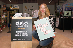 Frankie Kerr-Kineen, owner of The Native State, a modern art prints business based near St Andrews, is among the first online retailers taking space at Amazon's pop-up Clicks and Mortar shop in Edinburgh. Pic copyright Terry Murden @edinburghelitemedia
