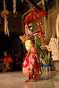 Traditional Balinese Legong dancer. Sanur, Bali, Indonesia