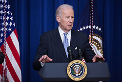 December 13, 2016 - Washington, DC, United States - VP Joe Biden made remarks, before the signing by President Barack Obama of the 21st Century Cures Act, in the South Court Auditorium of the Eisenhower Executive Office Building of the White House in Washington, DC. on December 13, 2016. The legislation eases the development and approval of experimental treatments and reforms federal policy on mental health care. (Credit Image: © Cheriss May/NurPhoto via ZUMA Press)