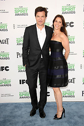 Jason Bateman and wife at the 2014 Film Independent Spirit Awards Arrivals, Santa Monica Beach, Santa Monica, United States, Saturday, 1st March 2014. Picture by Hollywood Bubbles / i-Images<br /> UK ONLY