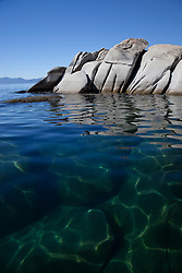 """""""Boulders at Lake Tahoe 6"""" - These boulders were photographed from a kayak early in the morning at Lake Tahoe, near Speed Boat Beach."""