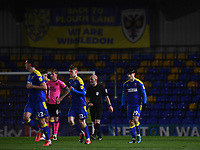 Football - 2020 / 2021 Sky Bet League One - AFC Wimbledon vs Peterborough United - Plough Lane<br /> <br /> AFC Wimbledon's Ryan Longman celebrates scoring the opening goal.<br /> <br /> COLORSPORT/ASHLEY WESTERN