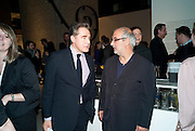 PETER YORK; ALAN YENTOB, Ron Arad; Restless. Cocktail reception hosted by Kate Bush of the Barbican and Tony Chambers of Wallpaper magazine. Barbican art Gallery. London. 17 September 2010