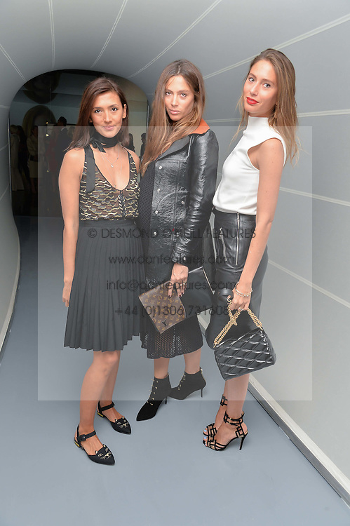 Left to right, HIKARI YOKOYAMA , QUENTIN JONES and JEMIMA GOLDSMITH at the Louis Vuitton Series 3 VIP Launch held at 180 Strand, London on 20th September 2015.