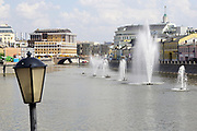 fountains on Vodootvodniy channel, Moscow, Russia