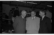 """Launch Of New Ford Corsair..1963..01.10.1963..10.01.1963..1st October 1963..Today saw the launch of a new car to the market. At the Smithfield Motor Company in Drumcondra, Ford launched """"The Corsair"""".,The Corsair was one of the four model Consul range, and shared many of its mechanical components with the Cortina, Classic and Capri. The Corsair had unusual and quite bold styling for its day, with a sharp horizontal V-shaped crease at the very front of the car into which round headlights were inset... Mr Joe Murphy, General Manager,Smithfield Motor Company, Drumcondra.(right) is pictured in diccussion with potential buyers at the launch of the new Corsair."""