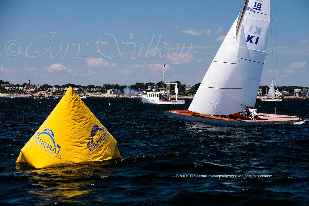 Vixen sailing in the Corinthian Classic Yacht Regatta.