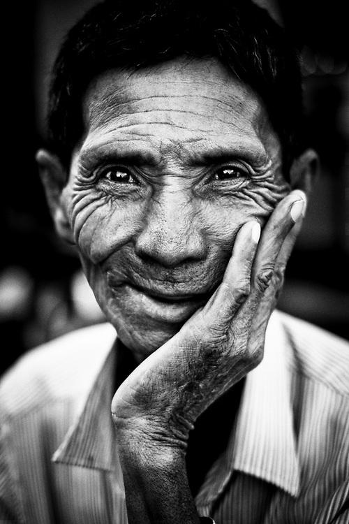 Khmer Man. Phnom Penh, Cambodia.<br /> Photo by Lorenz Berna