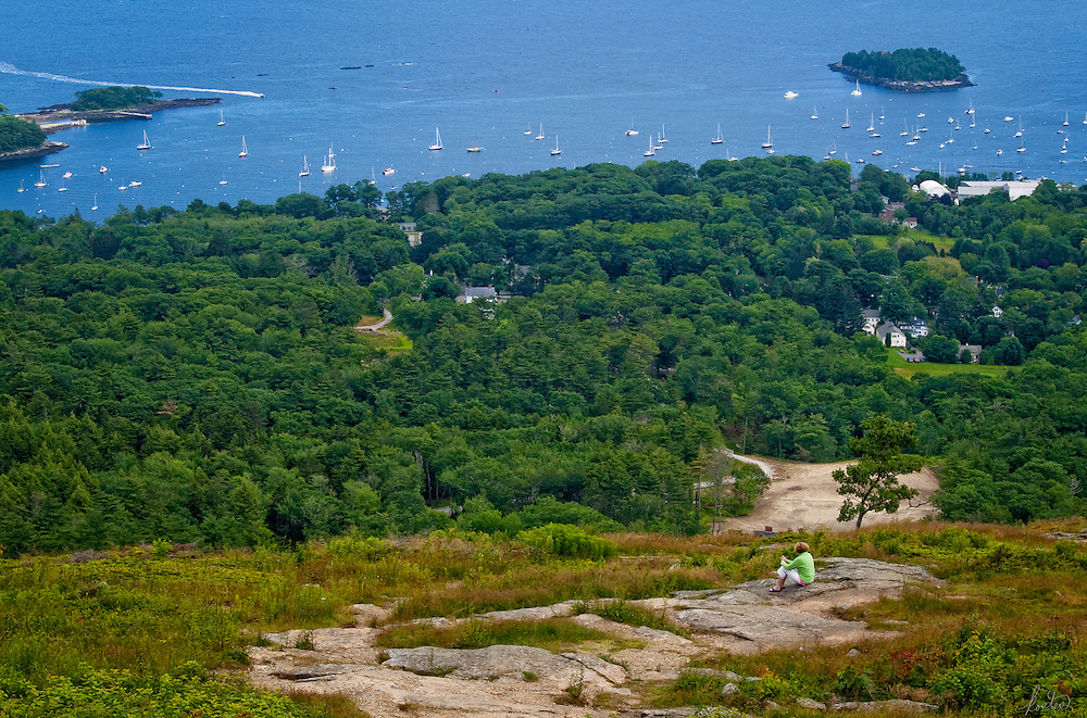 This image was captured up in the hills overlooking Camden, Maine harbor, in the summertime. It's my homage to Andrew Wyeth's Christina's world.