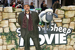 © Licensed to London News Pictures. 25/01/2015, UK. Omid Djalili, Shaun the Sheep Movie - European Film Premiere, Leicester Square, London UK, 25 January 2015. Photo credit : Richard Goldschmidt/Piqtured/LNP