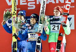 02.12.2016, Lillehammer, NOR, FIS Weltcup Ski Sprung, Lillehammer, Damen, im Bild v.l. Yuki Ito (JPN), Sara Takanashi (JPN), Anna Rupprecht (GER) // f.l. Yuki Ito of Japan Sara Takanashi of Japan Anna Rupprecht of Germany during Womens Skijumping Competition of FIS Skijumping World Cup. Lillehammer, Norway on 2016/12/02. EXPA Pictures © 2016, PhotoCredit: EXPA/ Nisse<br /> <br /> *****ATTENTION - OUT of SWE*****