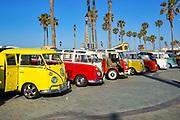 Vintage Volkswagen Buses Classic Car Show at Huntington Beach Pier
