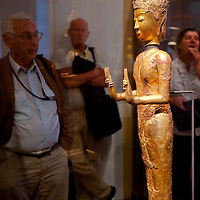 Golden statue is displayed in the Southeast Gold Museum that presents hundreds of golden artifacts from the private collection of founder Istvan Zelnik in Budapest, Hungary on September 15, 2011. ATTILA VOLGYI