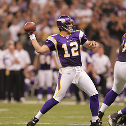 2008 October, 06: Minnesota Vikings quarterback Gus Frerotte (12) in action during a week five regular season game between the Minnesota Vikings and the New Orleans Saints for Monday Night Football at the Louisiana Superdome in New Orleans, LA.