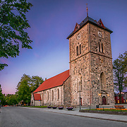 Vår Frue Church is located in the Midtbyen area of Trondheim, just a few blocks north of the Nidaros Cathedral. The church is part of the Nidaros og Vår Frue parish in the Nidaros deanery of the Diocese of Nidaros with the Church of Norway