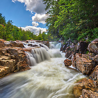 New England waterfalls photography of Rocky Gorge along the Kancamagus Highway in the White Mountain National Forest of New Hampshire.<br /> <br /> New Hampshire White Mountain National Forest Rocky Gorge waterfall fine art photography artworks are available as museum quality photography prints, canvas prints, acrylic prints, wood prints or metal prints. Fine art prints may be framed and matted to the individual liking and interior design decorating needs.<br /> <br /> Good light and happy photo making!<br /> <br /> My best,<br /> <br /> Juergen