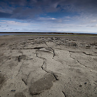 Sept 2009 Yamal Peninsula, Siberia, Russia - global warming impacts story on the Nenet people , reindeer herders in the Yamal Peninsula at a thermokarst Lake which has drained out due to the melting of the permafrost and erosion - these events will become more preValent due to climate change-
