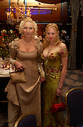 Vladi Belolipskaia and Aleona Nazarenkova, 15th War and Peace Ball in commemoration of the 175 anniversary of Leo Tolstoy, Dorchester, 19 February 2004. ONE TIME USE ONLY - DO NOT ARCHIVE  © Copyright Photograph by Dafydd Jones 66 Stockwell Park Rd. London SW9 0DA Tel 020 7733 0108 www.dafjones.com