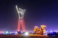 The Man at The Drone LightShow - https://Duncan.co/Burning-Man-2021