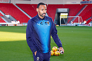 Wimbledon midfielder Liam Trotter (14) arrives during the EFL Sky Bet League 1 match between Doncaster Rovers and AFC Wimbledon at the Keepmoat Stadium, Doncaster, England on 17 November 2018.