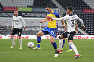 Southampton forward Shane Long controls the ball during the The FA Cup 3rd round match between Derby County and Southampton at the Pride Park, Derby, England on 5 January 2019.