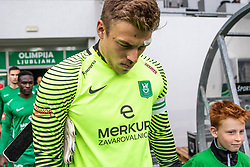 Vidmar Nejc of NK Olimpija Ljubljana during football match between NK Olimpija Ljubljana and NK Aluminij in Round #27 of Prva liga Telekom Slovenije 2018/19, on April 14th, 2019 in Stadium Stozice, Slovenia Photo by Matic Ritonja / Sportida