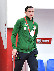 Republic of Ireland's Josh Cullen on the pitch prior to the UEFA Euro 2020 Qualifying, Group D match at the Victoria Stadium, Gibraltar.