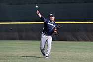 CARY, NC - FEBRUARY 23: Monmouth's Tyler Ksiazek. The Monmouth University Hawks played the Saint John's University Red Storm on February 23, 2018 on Field 2 at the USA Baseball National Training Complex in Cary, NC in a Division I College Baseball game. St John's won the game 3-0.