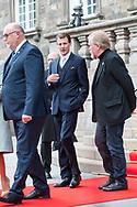 03.10.2017. Copenhagen, Denmark. <br /> Prince Joachim leaves the Danish Parliament at Christiansborg Palace in Copenhagen, Denmark.<br /> Photo: © Ricardo Ramirez