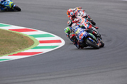June 4, 2017 - Mugello, Italy - Valentino ROSSI ITA Movistar Yamaha MotoGP, Andrea DOVIZIOSO ITA Ducati Team, Maverick VINALES SPA Movistar Yamaha MotoGP, DUCATI Jorge LORENZO SPA Ducati Team, Marc MARQUEZ SPA Repsol Honda Team, Danilo PETRUCCI ITA OCTO Pramac Racing. Day 3 Race at the Mugello International Cuircuit for the sixth round of MotoGP World Championship Gran Premio d'Italia Oakley  on June 4, 2017. (Credit Image: © Fabio Averna/NurPhoto via ZUMA Press)