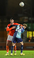 Blackpool's Gary Madine vies for possession with Wycombe Wanderers' James Husband<br /> <br /> Photographer Lee Parker/CameraSport<br /> <br /> The EFL Sky Bet League One - Wycombe Wanderers v Blackpool - Tuesday 28th January 2020 - Adams Park - Wycombe<br /> <br /> World Copyright © 2020 CameraSport. All rights reserved. 43 Linden Ave. Countesthorpe. Leicester. England. LE8 5PG - Tel: +44 (0) 116 277 4147 - admin@camerasport.com - www.camerasport.com