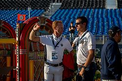 BRUYNSEELS Niels (BEL), WATHELET Gregory (BEL) <br /> Tryon - FEI World Equestrian Games™ 2018<br /> Parcoursbesichtigung<br /> Springen Zeitspringprüfung Teamwertung Einzelwertung 1. Runde<br /> September 2018<br /> © www.sportfotos-lafrentz.de/Stefan Lafrentz