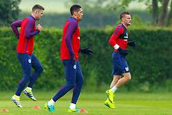 © Licensed to London News Pictures. 01/06/2016. London, UK. England's GARY CAHILL, CHRIS SMALLING and JAMES VARDY training with England team at Watford Training Ground on Wednesday, 1 June 2016, ahead of the Euro 2016 in France. Photo credit: Tolga Akmen/LNP