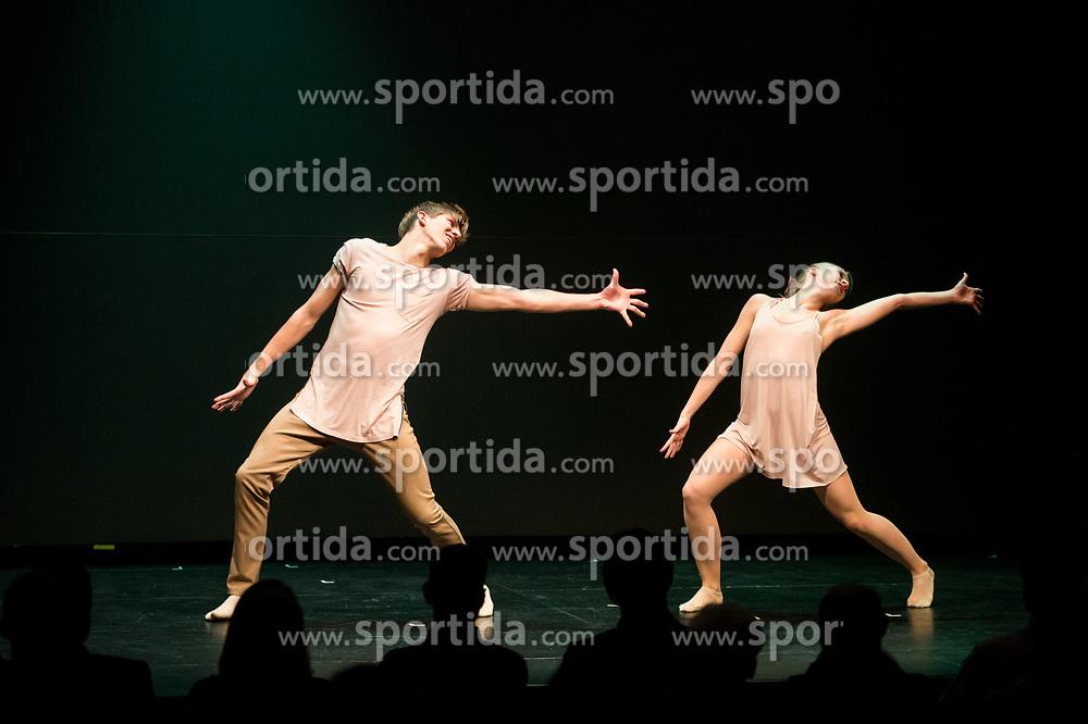 Dancers perform during Slovenian Tennis personality of the year 2017 annual awards presented by Slovene Tennis Association Tenis Slovenija, on November 29, 2017 in Siti Teater, Ljubljana, Slovenia. Photo by Vid Ponikvar / Sportida