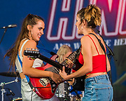 Hinds, a Spanish Band, perform on the BBC Music Stage - The 2018 Latitude Festival, Henham Park. Suffolk 13 July 2018
