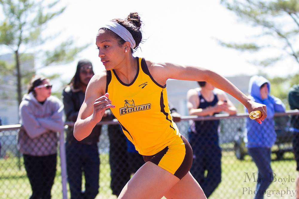 Rowan University's  women's 4 x 400 meter relay at the NJAC Track and Field Championships at Richard Wacker Stadium on the campus of  Rowan University  in Glassboro, NJ on Sunday May 5, 2013. (photo / Mat Boyle)