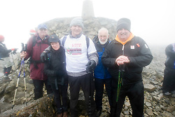 John with the team that helped him..The John Hartson Foudation walk up Ben Nevis..Pic ©2010 Michael Schofield. All Rights Reserved.